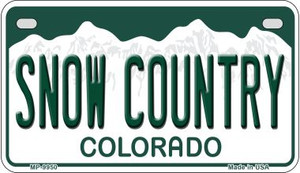 Snow Country Colorado Wholesale Novelty Metal Motorcycle Plate MP-9950
