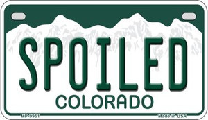 Spoiled Colorado Wholesale Novelty Metal Motorcycle Plate MP-9951