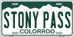 Stony Pass Colorado Wholesale Novelty Metal License Plate LP-12152