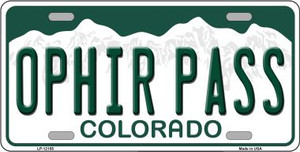 Ophir Pass Colorado Wholesale Novelty Metal License Plate LP-12155