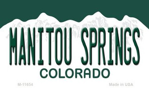 Manitou Springs Colorado Wholesale Novelty Metal Magnet M-11654