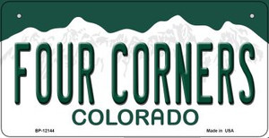 Four Corners Colorado Wholesale Novelty Metal Bicycle Plate BP-12144