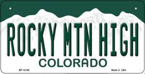 Rocky Mountain High Colorado Wholesale Novelty Metal Bicycle Plate BP-12146