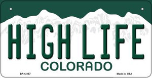 High Life Colorado Wholesale Novelty Metal Bicycle Plate BP-12157