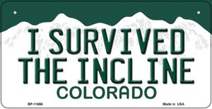 I Survived The Incline Colorado Wholesale Novelty Metal Bicycle Plate BP-11656