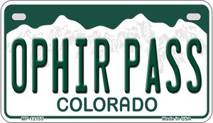 Ophir Pass Colorado Wholesale Novelty Metal Motorcycle Plate MP-12155