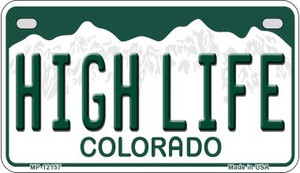 High Life Colorado Wholesale Novelty Metal Motorcycle Plate MP-12157