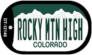 Rocky Mountain High Colorado Wholesale Novelty Metal Dog Tag Necklace DT-12146