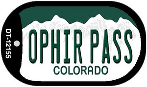 Ophir Pass Colorado Wholesale Novelty Metal Dog Tag Necklace DT-12155