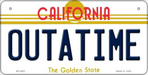 Outatime California Wholesale Novelty Metal Bicycle Plate BP-4881