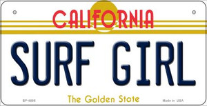 Surf Girl California Wholesale Novelty Metal Bicycle Plate BP-4886