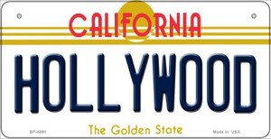 Hollywood California Wholesale Novelty Metal Bicycle Plate BP-4891