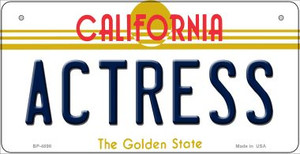 Actress California Wholesale Novelty Metal Bicycle Plate BP-4898