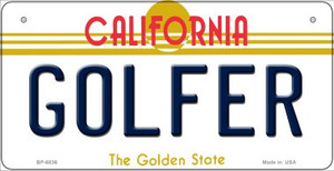 Golfer California Wholesale Novelty Metal Bicycle Plate BP-6836