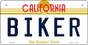 Biker California Wholesale Novelty Metal Bicycle Plate BP-6851
