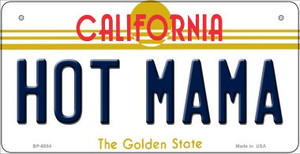 Hot Mama California Wholesale Novelty Metal Bicycle Plate BP-6854