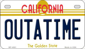 Outatime California Wholesale Novelty Metal Motorcycle Plate MP-4881