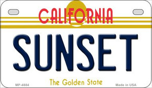 Sunset California Wholesale Novelty Metal Motorcycle Plate MP-4884