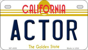 Actor California Wholesale Novelty Metal Motorcycle Plate MP-4899