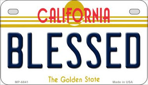Blessed California Wholesale Novelty Metal Motorcycle Plate MP-6841