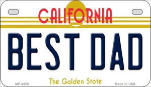Best Dad California Wholesale Novelty Metal Motorcycle Plate MP-6856