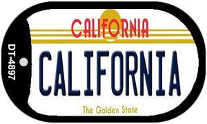 California California Wholesale Novelty Metal Dog Tag Necklace DT-4897
