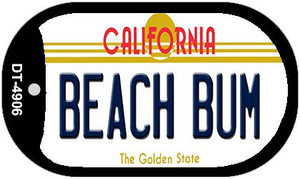Beach Bum California Wholesale Novelty Metal Dog Tag Necklace DT-4906
