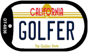 Golfer California Wholesale Novelty Metal Dog Tag Necklace DT-6836