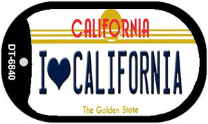 I Love California Wholesale Novelty Metal Dog Tag Necklace DT-6840