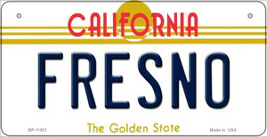 Fresno California Wholesale Novelty Metal Bicycle Plate BP-11421