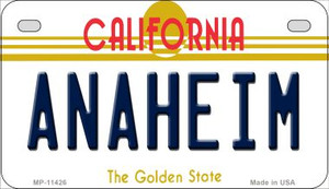 Anaheim California Wholesale Novelty Metal Motorcycle Plate MP-11426