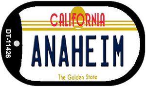 Anaheim California Wholesale Novelty Metal Dog Tag Necklace DT-11426