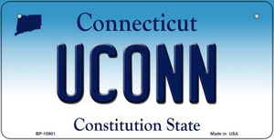 Uconn Connecticut Wholesale Novelty Metal Bicycle Plate BP-10901