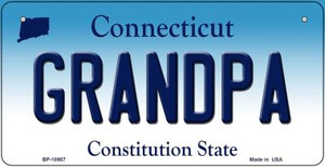 Grandpa Connecticut Wholesale Novelty Metal Bicycle Plate BP-10907
