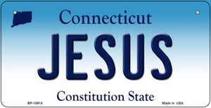 Jesus Connecticut Wholesale Novelty Metal Bicycle Plate BP-10914