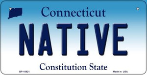 Native Connecticut Wholesale Novelty Metal Bicycle Plate BP-10921