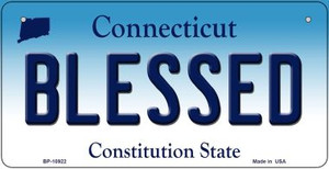 Blessed Connecticut Wholesale Novelty Metal Bicycle Plate BP-10922