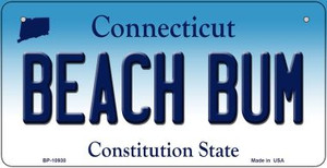 Beach Bum Connecticut Wholesale Novelty Metal Bicycle Plate BP-10930