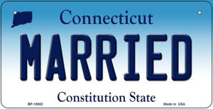 Married Connecticut Wholesale Novelty Metal Bicycle Plate BP-10932