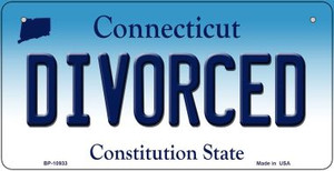 Divorced Connecticut Wholesale Novelty Metal Bicycle Plate BP-10933