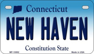 New Haven Connecticut Wholesale Novelty Metal Motorcycle Plate MP-10892