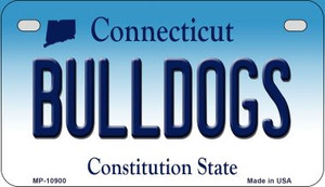 Bulldogs Connecticut Wholesale Novelty Metal Motorcycle Plate MP-10900