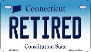 Retired Connecticut Wholesale Novelty Metal Motorcycle Plate MP-10909