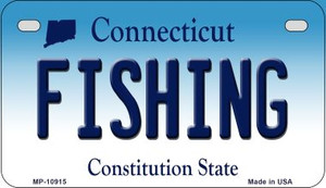 Fishing Connecticut Wholesale Novelty Metal Motorcycle Plate MP-10915