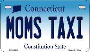 Moms Taxi Connecticut Wholesale Novelty Metal Motorcycle Plate MP-10919