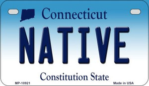 Native Connecticut Wholesale Novelty Metal Motorcycle Plate MP-10921