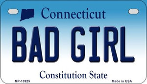 Bad Girl Connecticut Wholesale Novelty Metal Motorcycle Plate MP-10925