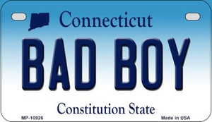 Bad Boy Connecticut Wholesale Novelty Metal Motorcycle Plate MP-10926