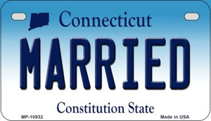 Married Connecticut Wholesale Novelty Metal Motorcycle Plate MP-10932