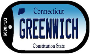 Greenwich Connecticut Wholesale Novelty Metal Dog Tag Necklace DT-10895